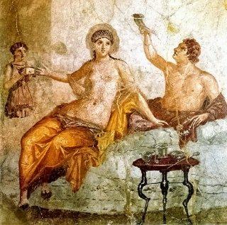 Naissance, vie,mort,Jugement, après la Vie Chap. N°7 Rel-Maison-dHerculaneum-fresque