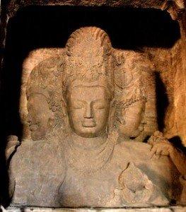 Trimurti hindou - Elephanta Caves