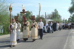 Rel-Procession Chrétiennne Orthodoxe à Moscou