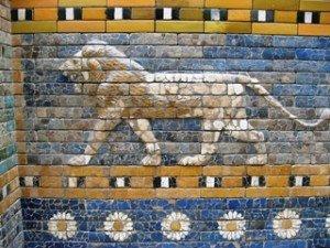 Rel-Déesse Isthar, Temple porte du lion