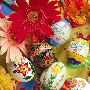 Les Pâques- œufs décorés