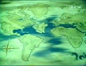 Atlantide Ile au milieu de l'Atlantique