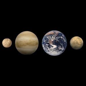 ss-4planètes Terre de Mercure à Mars