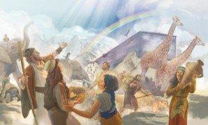 Arc de l'Alliance-Arc-en-Ciel dans le ciel