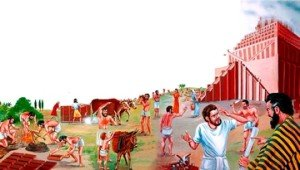 Tour de Babel-les travaux avance
