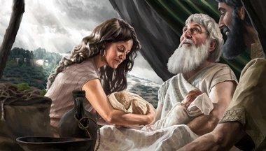 Fidèle à Ê.S.El-S.- Abraham, sa servante et Ismaël
