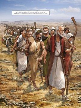 Exode-arrivé sur les contreforts de la Montagne volcanique du Sinaï (Copier) (2)