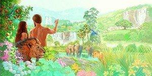 Adam et Ève- dans l'Eden