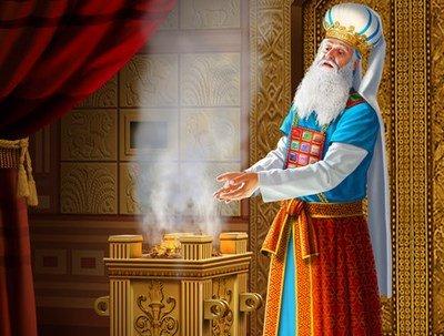 Grand Prêtre devant l'autel des parfums