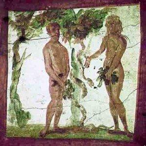 Adam et Ève-fresque