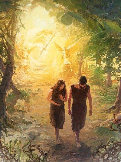 Adam & Eve chassés du Territoire d'Eden