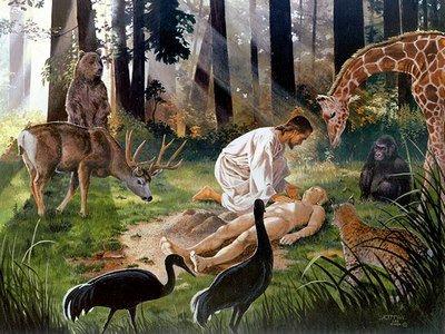 Adam reçoit Eve