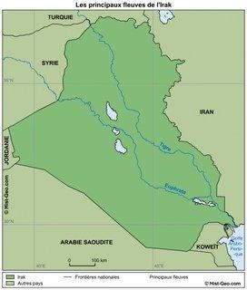 Carte de l'Euphrate et du Tigre-