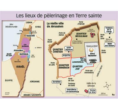 Jers-Carte et ville de Jérusalem