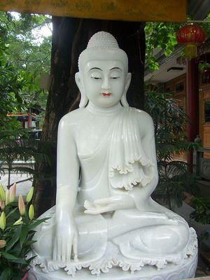 Boudd-a,Statue de Bouddha au temple des Six Banians à Canton.