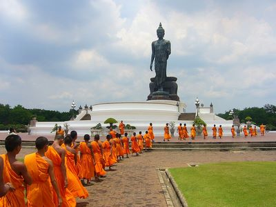Boudd-Moines bouddhistes en Thaïlande