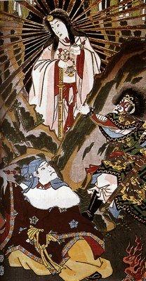Chn-a, Amaterasu, un des principaux kamis de la religion shintoïste