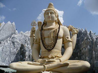 Hind-Statue de Shiva à Bangalore.