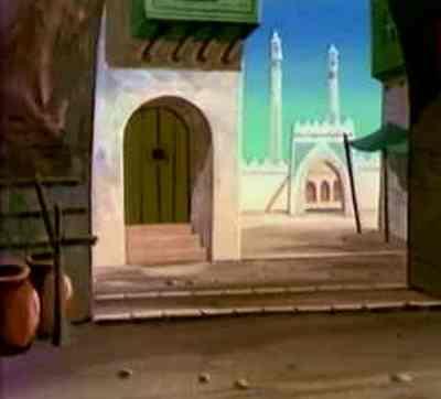 Isl. vue de la mosquée dans la cité