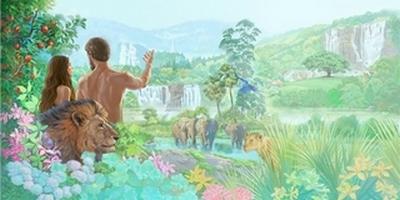 Adam et Ève-animaux de l'Eden (2)