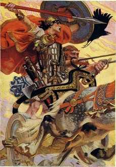 Celte-Cüchulainn  au combat, mythologie