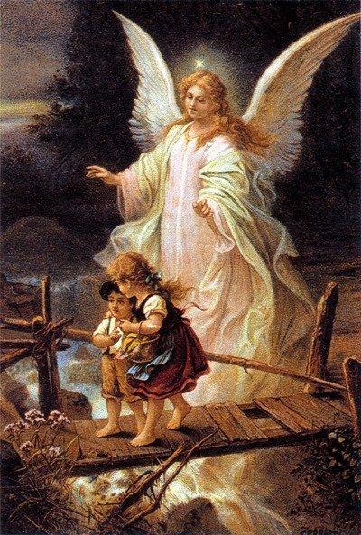 Ange gardien veille sur les enfants