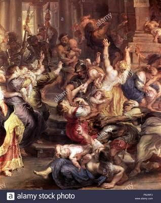 Hist-Bibl- massacre-des-innocents-detail-d-une-peinture-a-l-huile-par-peter-paul-rubens