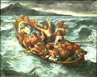 Bibl-Hist-Jésus-Le Christ sur le lac de Génésareth - Delacroix - 1853