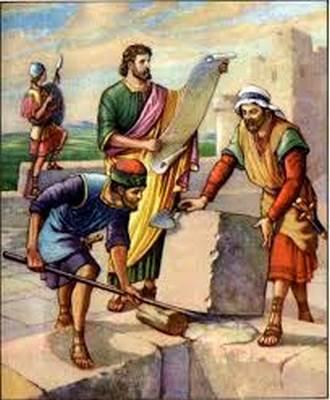 Bibl-Hist-  Reconstruction du second Temple avec Néhémie
